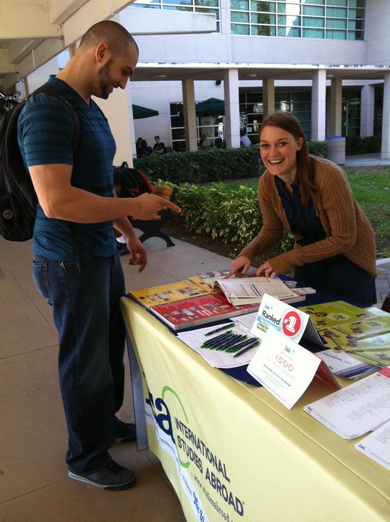 ISA Rep Tayler Gill on Campus at Florida Atlantic University