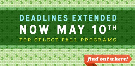 ISA fall 2012 application deadline extension