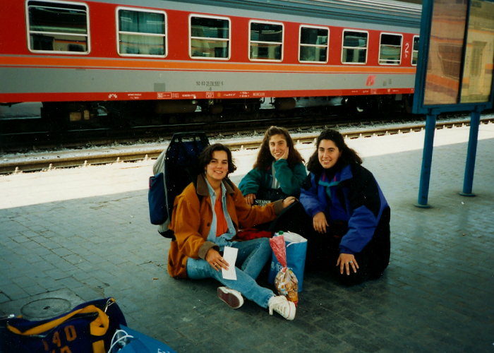 Study abroad, Jennifer Acosta, train station, train, europe