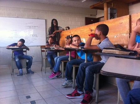Service-Learning student teaching in the Dominican Republic