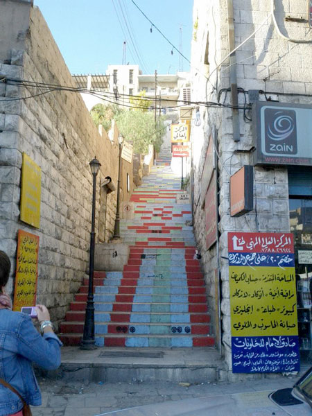 Staircase in downtown Amman