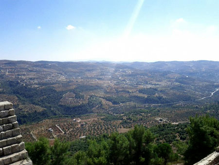 View from castle in Ajloun