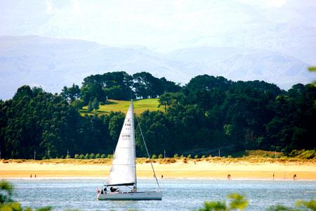 Sailing in Santander