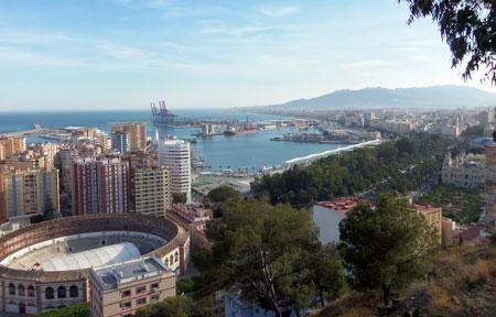 birds eye view of Malaga