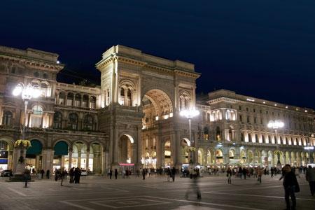 Milan Mall at Night