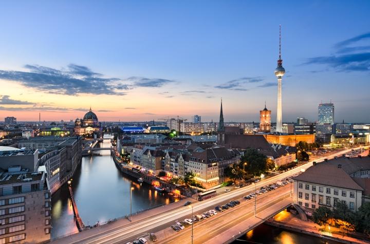 Berlin cityscape sunset (shutterstock)