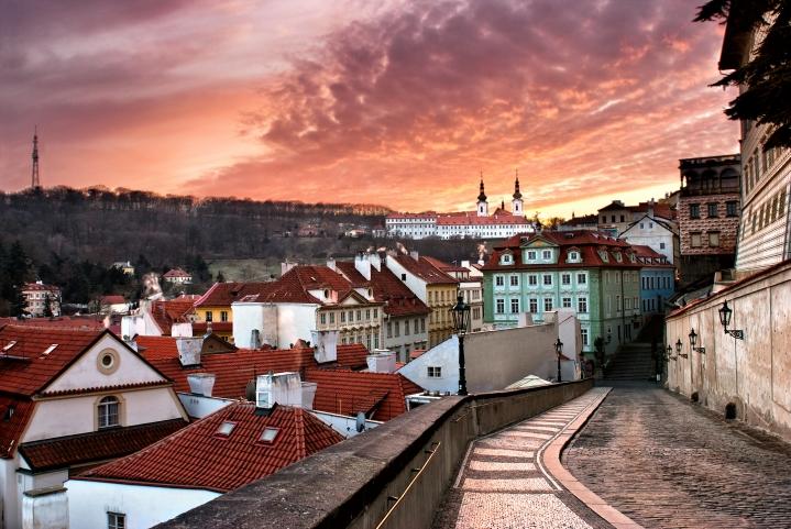 Prague sunset (shutterstock)