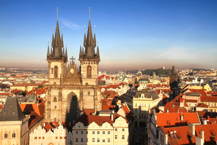 Prague old town rooftops (shutterstock)