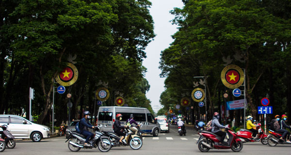 Busy street in Ho Chi Minh City, Vietnam