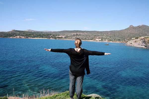 ISA student at the Aegean Sea.