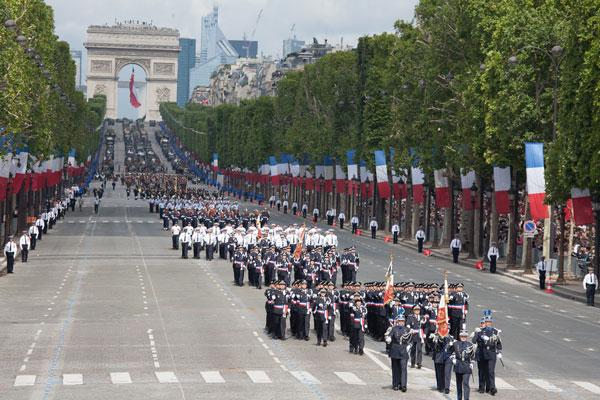 Bastille Day parade in Paris.