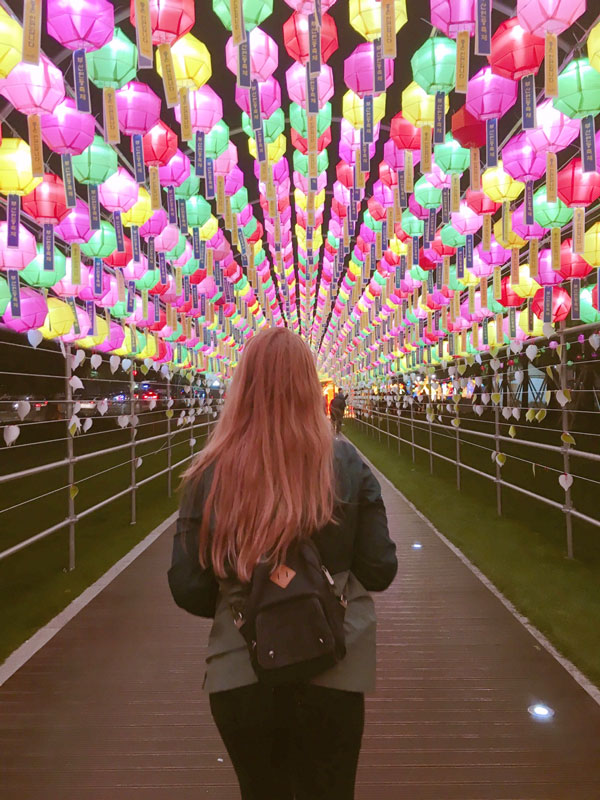 ISA student at a Lantern Festival in Busan, South Korea.