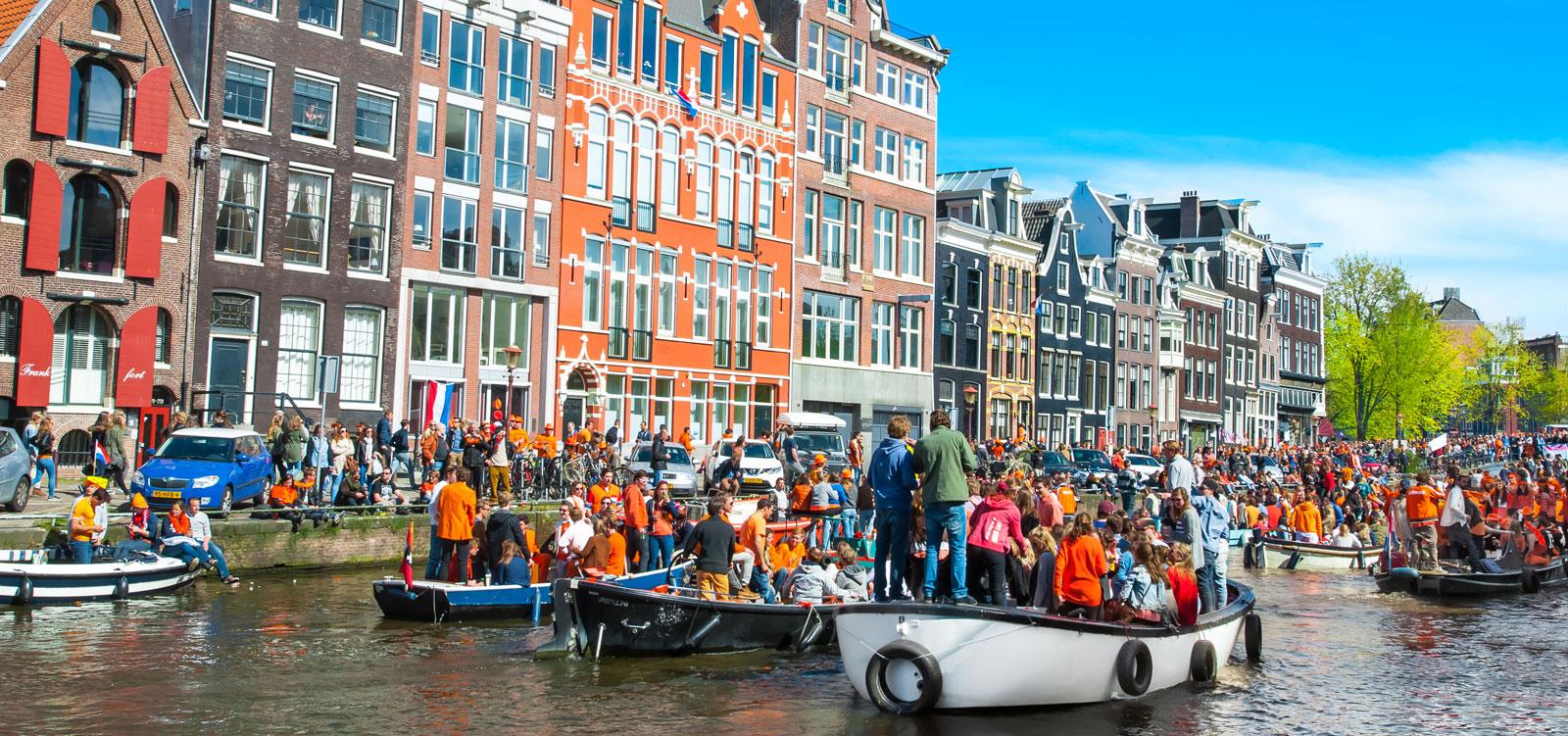 King's Day celebrations in Amsterdam.