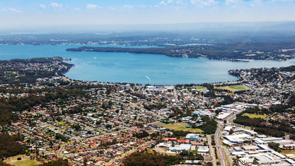 Lake Macquarie in Newcastle, Australia.