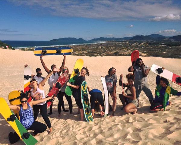 ISA students at Santa Catarina Island.