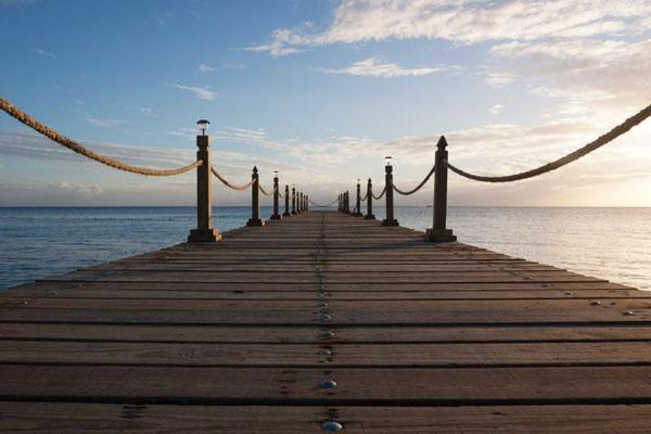 Bridge over an ocean.
