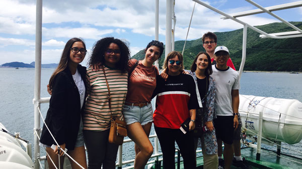 ISA students on a Busan excursion to Tongyeong.