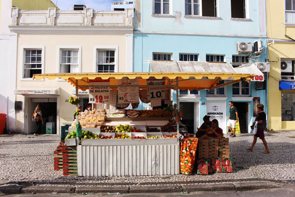 A local fruit stand in Florianopolis, Brazil