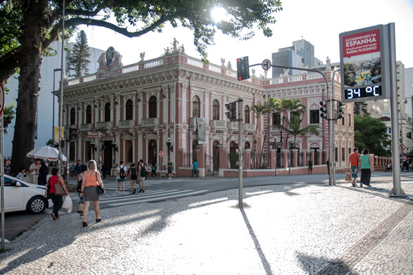 Historic building in Florianopolis, Brazil