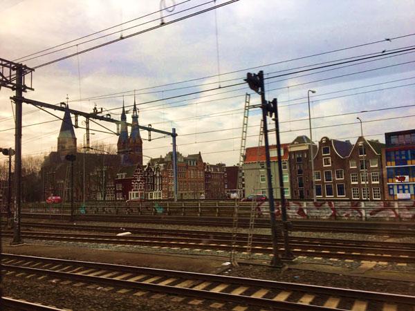 Train tracks in Amsterdam