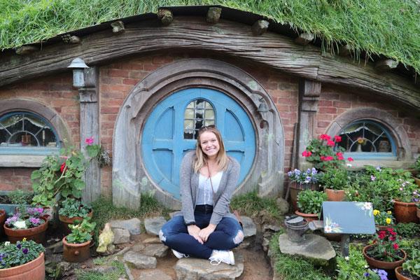 An ISA student in Hobbiton.