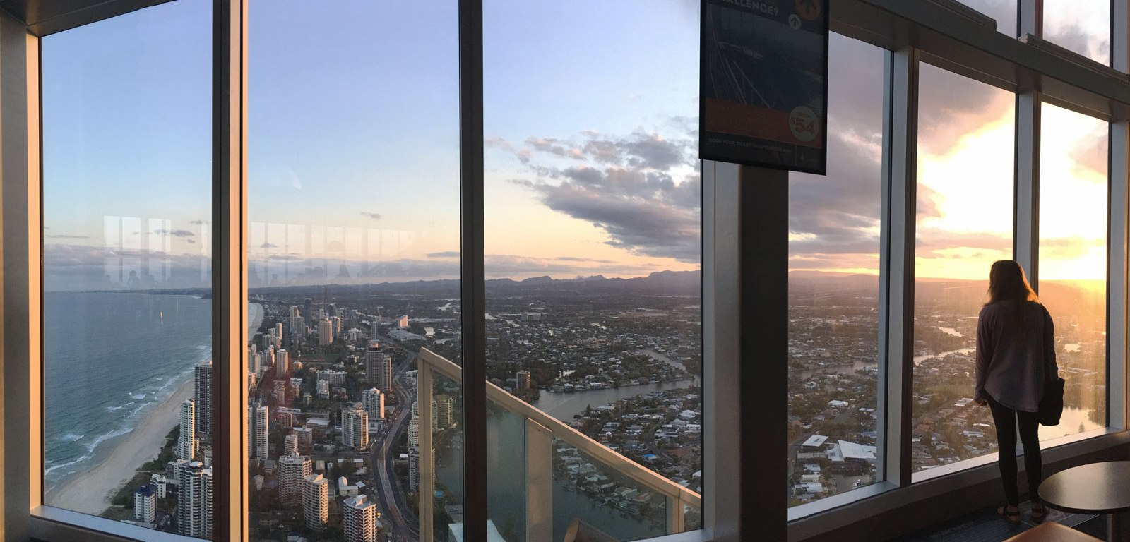 An ISA student overlooking the Gold Coast in Australia.
